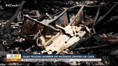 Duas pessoas morrem em incêndio em Paragominas - Duas pessoas morrem em incêndio em Paragominas