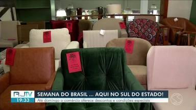 Semana do Brasil oferece descontos e condições especiais no comércio até domingo - Objetivo é aquecer a economia no mês em que não há data comemorativa que aumente as vendas.