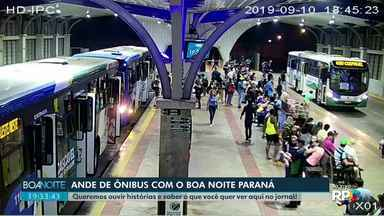 Ande de ônibus com o Boa Noite Paraná - Queremos ouvir histórias e saber o que você quer ver aqui no jornal.
