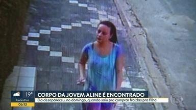 Corpo de jovem desaparecida em Alumínio é encontrado - Aline tinha desaparecido no domingo, quando foi comprar fraldas para a filha