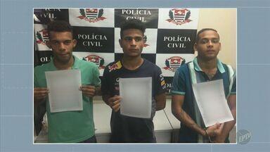 Três homens são presos suspeitos de sequestro relâmpago em Campinas - Os suspeitos foram reconhecidos por vítimas, que foram rendidas e sequestradas na última semana.