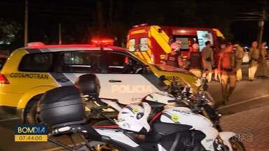 Uma pessoa foi baleada após jogo do Athletico - Tiro foi após uma confusão em frente ao módulo policial.