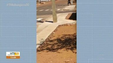 Vídeo mostra homem furtando fios de cobre em poste de Gurupi - Vídeo mostra homem furtando fios de cobre em poste de Gurupi