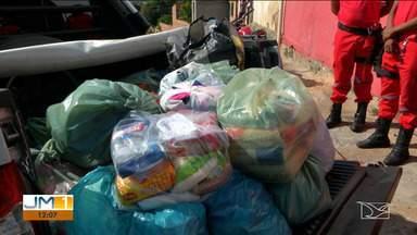 Bombeiros iniciam campanha para arrecadar doações para vítimas de incêndios no MA - Parte das doações será entregue às famílias que perderam tudo em um incêndio no município de Senador Alexandre Costa.