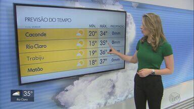 Veja como fica o tempo nesta quinta-feira na região - Previsão é de temperaturas altas e baixa umidade relativa do ar.