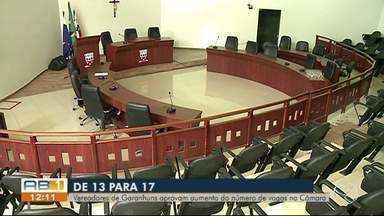 Vereadores aprovam aumento no número de parlamentares em Garanhuns - Eles queriam ampliar o número de vereadores de 13 para 17. Para que medida passe a valer ela precisa passar por uma segunda votação em 10 dias.