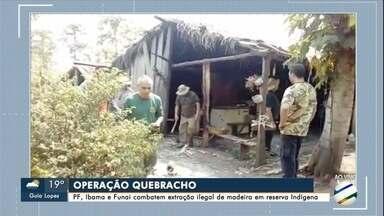 Polícia Federal, Ibama e Funai combatem extração ilegal de madeira em reserva Indígena - Investigação apura desmatamento em sete fazendas na região da Serra de Bodoquena