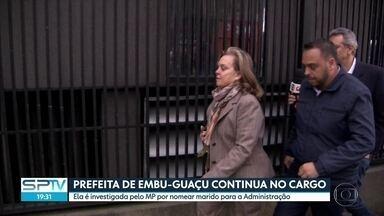 Prefeita de Embu-Guaçu continua no cargo - Vereadores decidiram pela não cassação da prefeita, que é investigada pelo Ministério Público por nomear marido para a Secretaria de Administração Municipal