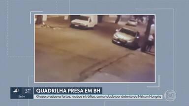 Polícia prende quadrilha suspeita de assaltos coordenados de dentro de prisão na Grande BH - De acordo com a corporação, Alisson Luciano da Silva, detido na Penitenciária Nelson Hungria, planejava ações do grupo por telefone.