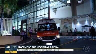 Hospitais da Zona Norte recebem pacientes resgatados de incêndio - Além dos sobreviventes, o Hospital Quinta D'or recebeu também equipamentos do Hospital Badim.