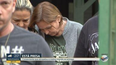 Mulher que atropelou e matou marido se entrega à polícia em Ribeirão Preto - Beatriz Azevedo Olivato, de 57 anos, cumprirá prisão temporária por 30 dias.