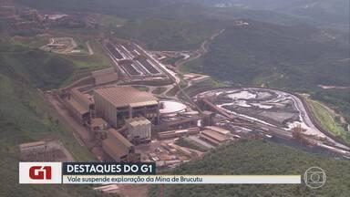 G1 no BDMG: Vale suspende trabalho em uma das áreas de exploração de Brucutu - A medida atende a uma determinação da ANM, que entende que uma das áreas de exploração excede os limites das reservas minerais.