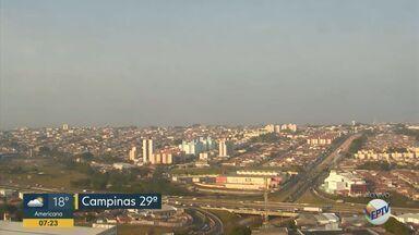 Confira a previsão do tempo para esta sexta-feira (13) - Campinas tem máxima de 29°C com ventos mais frescos.