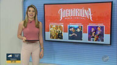 Rodeio de Jaguariúna começa nesta sexta-feira (13) na Red Eventos - O primeiro dia terá shows de Chitãozinho e Xororó, Bruno e Marrone e Henrique e Juliano.