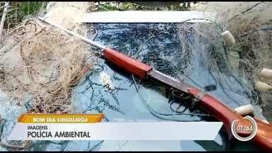 Polícia Ambiental flagra acampamento de caça em São José - Policiais chegaram ao local após denúncia anônima.