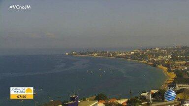 Previsão do tempo: Salvador deve ter fim de semana ensolarado e com temperaturas elevadas - Confira também as fotos do quadro 'Amanhecer' e a tábua de marés.