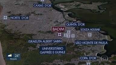 Confira os hospitais que receberam pacientes do Badim - Confira os hospitais que receberam pacientes do Badim
