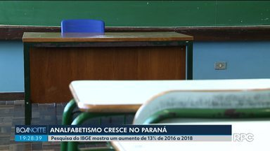 Número de pessoas analfabetas cresce no Paraná - Pesquisa do IBGE apontou um aumento de 13% de 2016 a 2018.