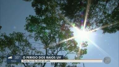 Médico alerta sobre risco de câncer de pele em virtude da exposição aos raios solares - Temperatura chega a 35°C neste sábado (14) em Ribeirão Preto (SP).