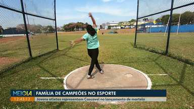 Irmãos atletas são orgulho para Cascavel no lançamento de martelo - Foi durante uma visita em comemoração ao aniversário do jornal, que o Meio Dia Paraná conheceu a família Barbosa.