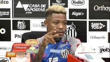"""No jogo pela liderança para o Santos, Marinho quer """"mini míssil"""" contra Flamengo - No jogo pela liderança para o Santos, Marinho quer """"mini míssil"""" contra Flamengo"""
