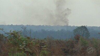 Fogo atinge áreas de reservas em propriedades do Norte - Mais de 11 mil hectares foram queimados em Marcelândia.