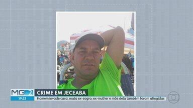 Polícia procura homem suspeito de matar ex-sogro e atirar contra ex-mulher e ex-sogra - O crime assustou a cidade de Jeceaba, na Região Central de Minas Gerais.