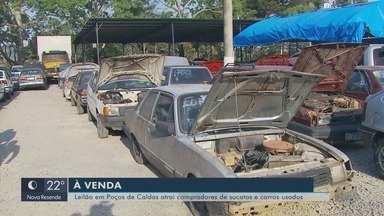 Leilão em Poços de Caldas (MG) atrai compradores de sucata e carros usados - Leilão em Poços de Caldas (MG) atrai compradores de sucata e carros usados