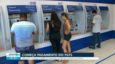 Agências da Caixa abrem neste sábado para atendimento do saque do FGTS, em Manaus - Liberação dos saques de até R$ 500 do Fundo de Garantia por Tempo de Serviço (FGTS).