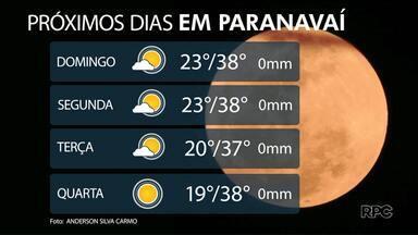 Domingo (15) vai ser de calorão no noroeste - Temperaturas em Paranavaí, Umuarama e Cianorte ficam perto dos 40 graus.