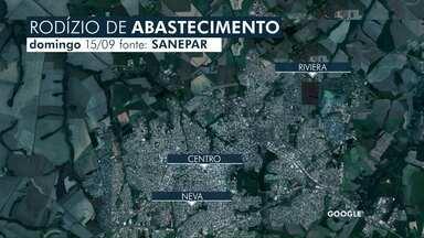 Rodízio de abastecimento em Cascavel continua neste domingo em diversos bairros - Água deve faltar na casa dos moradores a partir das 12h30. Abastecimento só deve ser normalizado depois das 19 horas.