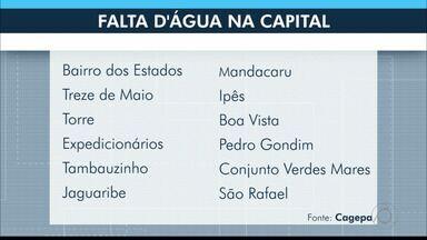 Falta água em 12 localidades de João Pessoa, neste domingo (15), diz Cagepa - Interrupção acontecerá das 7h às 23h, para limpeza de reservatório.