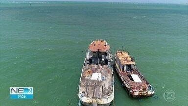 Parque dos Naufrágios Artificiais de Pernambuco ganha mais dois navios - Novos integrantes, que serão afundados na segunda-feira em Tamandaré, devem atrair mergulhadores e várias espécies marinhas.