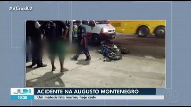 Pessoa morre em acidente de trânsito na Augusto Montenegro - Pessoa morre em acidente de trânsito na Augusto Montenegro