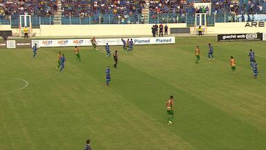Veja gols da vitória do Sampaio Corrêa sobre o Confiança - Maranhenses derrotaram sergipanos por 2 a 0 com gols de Esquerdinha e Salatiel Júnior.