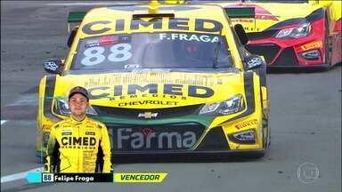 Primeira prova da Stock Car no Velopark tem vitória de Felipe Fraga - Primeira prova da Stock Car no Velopark tem vitória de Felipe Fraga