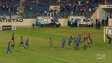 Sampaio Corrêa vence o Confiança e tem vantagem para chegar a final da série C - Time maranhense venceu por 2 a 0.