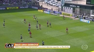 Alerta vermelho: Atlético-MG perde para o Inter e soma a quinta derrota consecutiva - Alerta vermelho: Atlético-MG perde para o Inter e soma a quinta derrota consecutiva