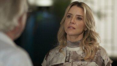 Karina diz a César que ele está sendo influenciado pela Jaqueline - César garante que o divórcio vai acontecer e é desafiado pela mulher