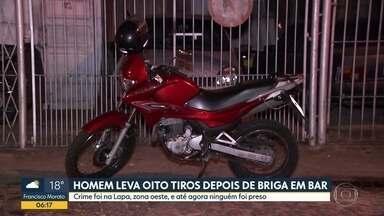 Homem leva oito tiros após briga em bar na cidade - Caso acontecceu na Lapa, na Zona oeste da capital.