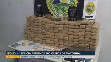 Polícia Militar apreende drogas em Curitiba e Colombo, na Região Metropolitana - E Polícia Rodoviária Federal apreende droga e prende 4 pessoas no Noroeste.