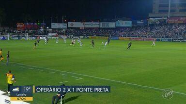Ponte Preta sai na frente mas leva virada do Operário - Time vai para o décimo lugar e se afasta ainda mais da zona de classificação.