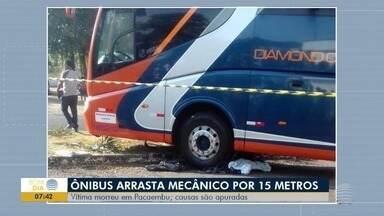 Inquérito policial deve apurar morte de mecânico, em Pacaembu - Vítima foi arrastada pelo ônibus que consertava.
