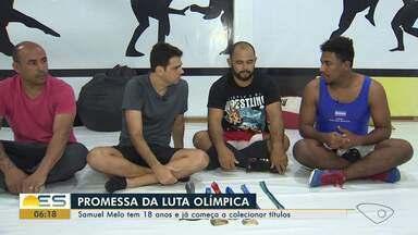 Papo de atleta: Samuel Melo tem 18 anos e já começa a colecionar títulos na luta olímpica - Veja como foi a conversa com o atleta.