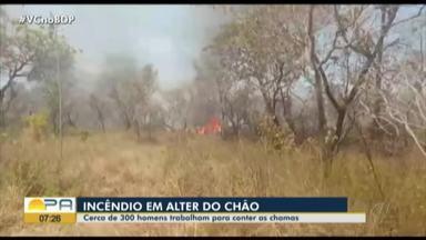 Cerca de 300 homens continuam trabalhando para conter as chamas em Alter do Chão - Os incêndios estão sendo contidos.