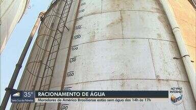 Américo Brasiliense tem racionamento de água em dois períodos do dia - A ideia é economizar para evitar o desabastecimento.