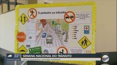 Semana Nacional de Trânsito busca conscientizar motoristas e pedestres - Semana Nacional de Trânsito busca conscientizar motoristas e pedestres