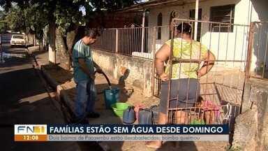 Moradores de Pacaembu sofrem com falta de água desde domingo - Caminhão-pipa foi enviado, mas quantidade disponível era limitada.