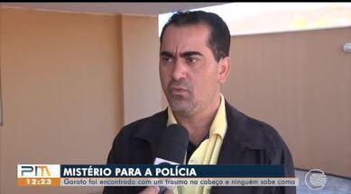 Polícia investiga caso de criança encontrada com trauma na cabeça - Polícia investiga caso de criança encontrada com trauma na cabeça