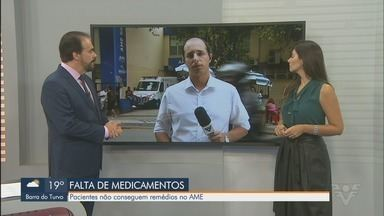 Pacientes afirmam que não estão conseguindo remédios no AME de Santos - Pacientes que precisam de medicamentos, não conseguem retirar no AME, o Ambulatório de Especialidades Médicas, do Estado.
